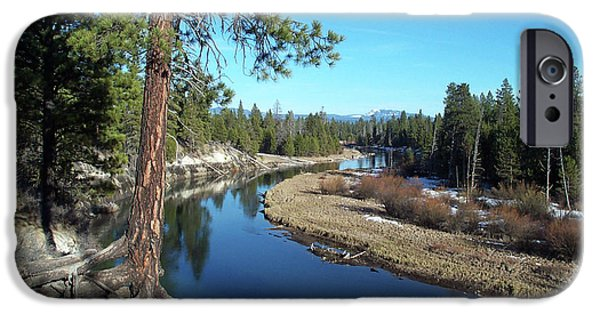 Tree Roots Photographs iPhone Cases - Deschutes River iPhone Case by Bonnie Bruno