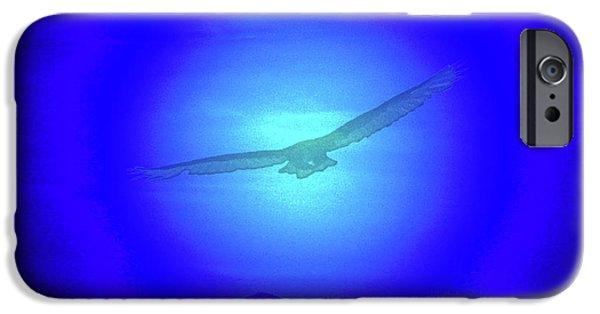 Birds In Flight At Night Digital iPhone Cases - Desert Nights iPhone Case by Debra     Vatalaro