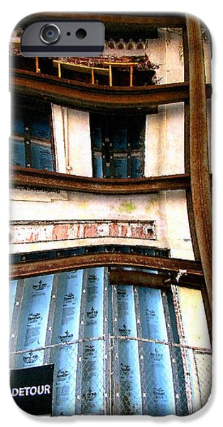 Buildings Mixed Media iPhone Cases - Detour Ahead iPhone Case by Colleen Kammerer