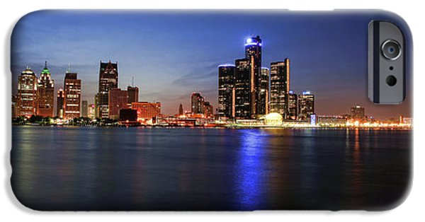 Electronic iPhone Cases - Detroit Skyline 1 iPhone Case by Gordon Dean II