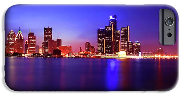 Electronic iPhone Cases - Detroit Skyline 3 iPhone Case by Gordon Dean II