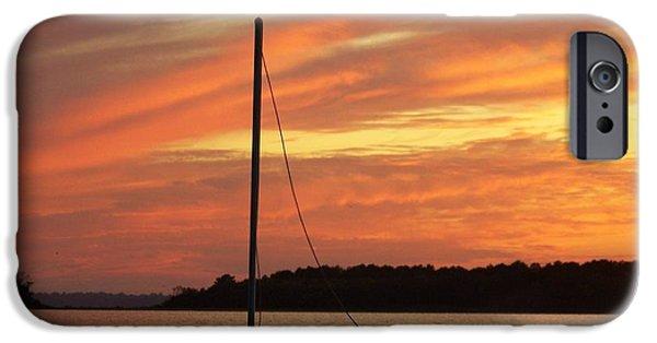 Boat iPhone Cases - Dewey Bay iPhone Case by Trish Tritz