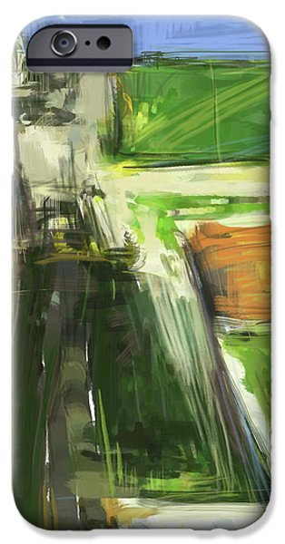 Buildings Mixed Media iPhone Cases - Diebenkorn Homage iPhone Case by Russell Pierce