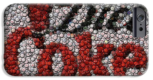 Pop Mixed Media iPhone Cases - Diet Coke Bottle Cap Mosaic iPhone Case by Paul Van Scott