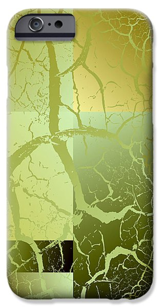Abstract Digital iPhone Cases - Digital Abstract No. 9 iPhone Case by Robert G Kernodle