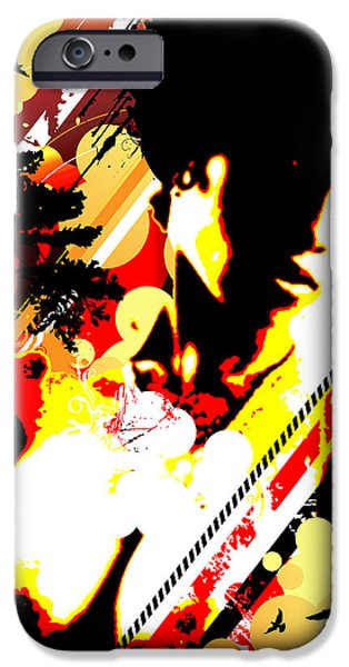 Best Sellers -  - Abstract Digital Mixed Media iPhone Cases - Dim Sunrise iPhone Case by Chris Andruskiewicz
