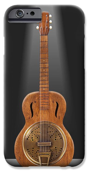 Unique Art iPhone Cases - Dobro in a Box iPhone Case by Mike McGlothlen
