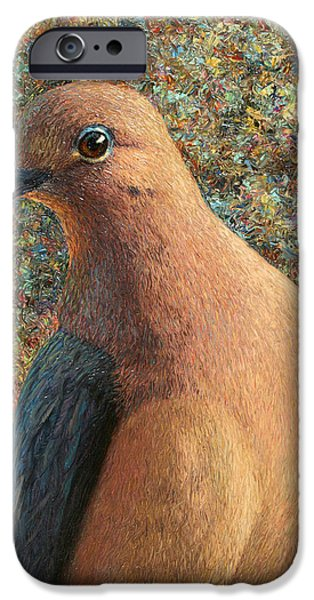 Texture Paintings iPhone Cases - Dove iPhone Case by James W Johnson