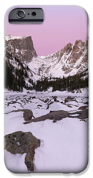 IPhone 6 Case featuring the photograph Dream Lake Winter Vertical by Aaron Spong