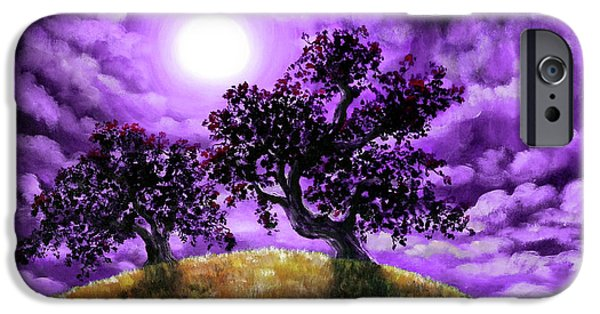 Surreal Landscape iPhone Cases - Dreaming of Oak Trees iPhone Case by Laura Iverson