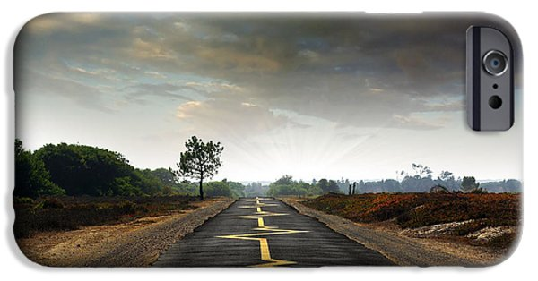 Asphalt iPhone Cases - Drive Safely iPhone Case by Carlos Caetano