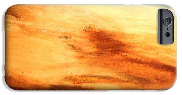IPhone 6 Case featuring the painting Dune Shadows by Winsome Gunning