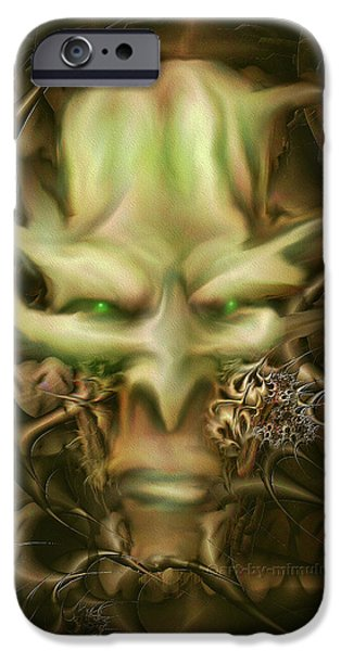 Dungeons iPhone Cases - Dungeon Master iPhone Case by Mimulux patricia no