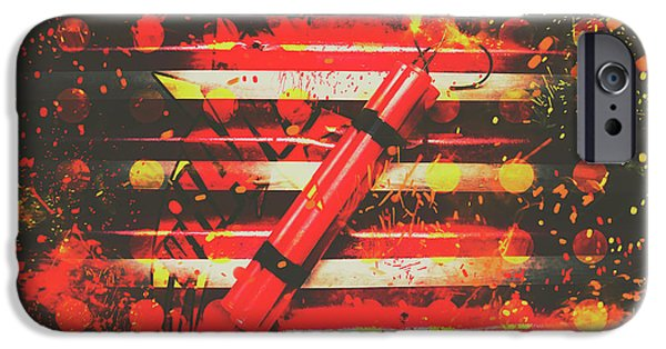 Safety Fuse iPhone 6 Case - Dynamite Artwork by Jorgo Photography - Wall Art Gallery