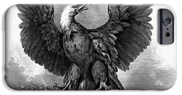 1870 iPhone Cases - Eagle, 1870 iPhone Case by Granger