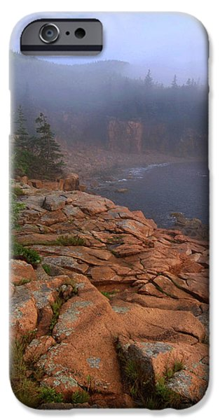 Maine iPhone Cases - Early Morning Fog  iPhone Case by Stephen  Vecchiotti