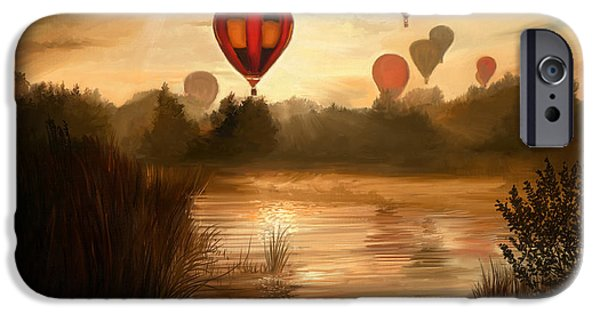 Hot Air Balloon iPhone Cases - Early Morning Rise iPhone Case by Dale Jackson