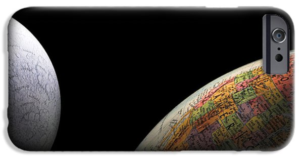 Big Blue Marble iPhone Cases - Earth and Moon iPhone Case by Rob Byron