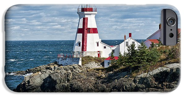 Quoddy iPhone Cases - East Quoddy Lighthouse iPhone Case by John Greim