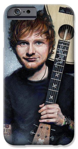 Folk Art iPhone 6 Case - Ed Sheeran by Andre Koekemoer