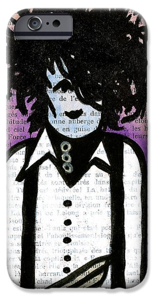 Character Portraits Drawings iPhone Cases - Edward iPhone Case by Jera Sky