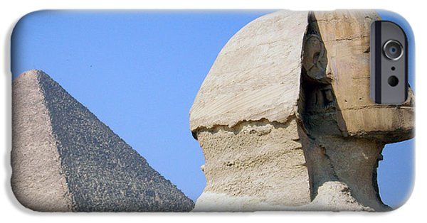 Pyramids Greeting Cards iPhone Cases - Egypt - Pyramids Abu Alhaul iPhone Case by Munir Alawi