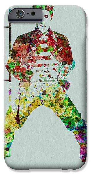 Elvis Presley Paintings iPhone Cases - Elvis Presley iPhone Case by Naxart Studio