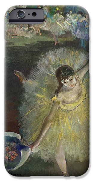 Lady Pastels iPhone Cases - End of an Arabesque iPhone Case by Edgar Degas