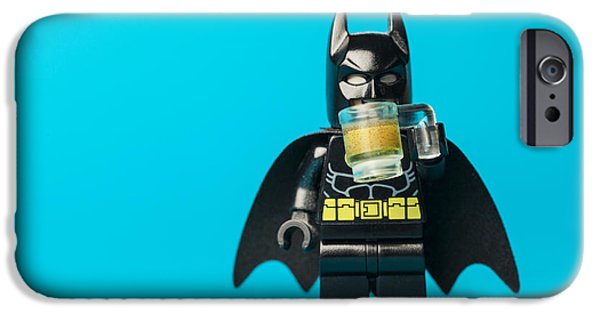 Superheroes iPhone 6 Case - Even Batman Needs A Beer by Samuel Whitton