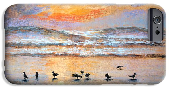 Ocean Sunset Pastels iPhone Cases - Evening Prayer iPhone Case by Karin  Leonard