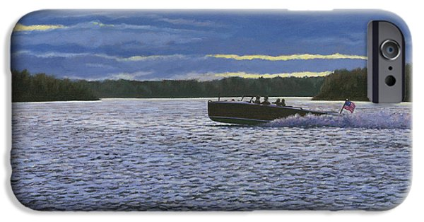 Waterscape Paintings iPhone Cases - Evening Run iPhone Case by Richard De Wolfe