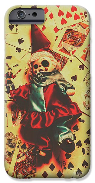 Evil Clown Doll On Playing Cards IPhone 6 Case