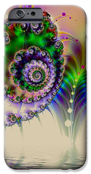 Colorful Abstract iPhone Cases - Exploding nature iPhone Case by Sharon Lisa Clarke