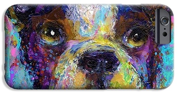 iPhone 6 Case - Expressive Boston Terrier Painting By by Svetlana Novikova