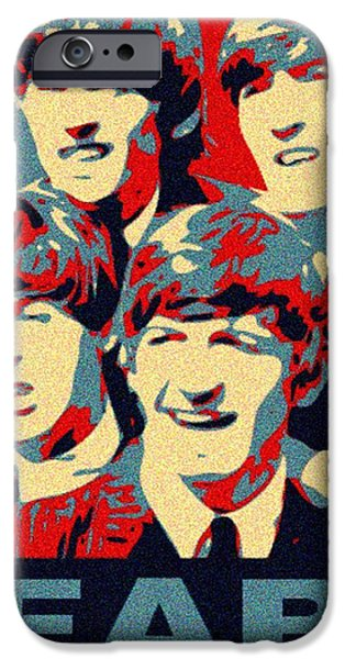 Obama Mixed Media iPhone Cases - Fab Four iPhone Case by Paul Van Scott
