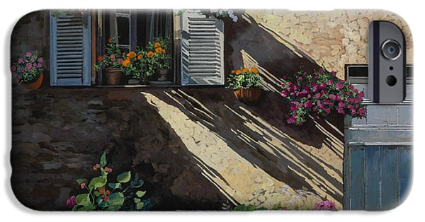 Door iPhone Cases - Facciata In Ombra iPhone Case by Guido Borelli