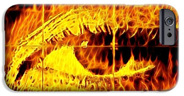 iPhone 6 Case - Face The Fire by Gina Callaghan