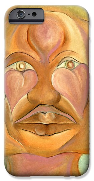 Jamaican Paintings iPhone Cases - Faces of Copulation iPhone Case by Ikahl Beckford