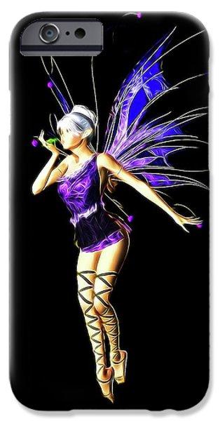 Folk Art iPhone 6 Case - Fairy, Digital Art By Mb by Mary Bassett