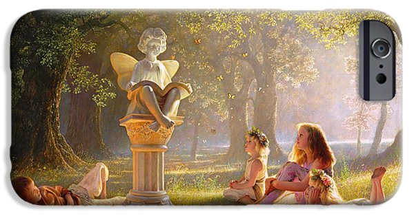 Statue iPhone Cases - Fairy Tales  iPhone Case by Greg Olsen