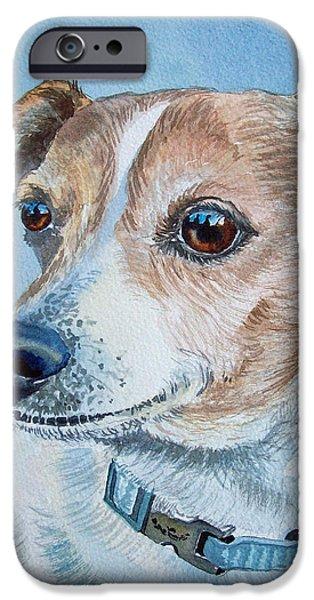 Dogs iPhone Cases - Faithful Eyes iPhone Case by Irina Sztukowski