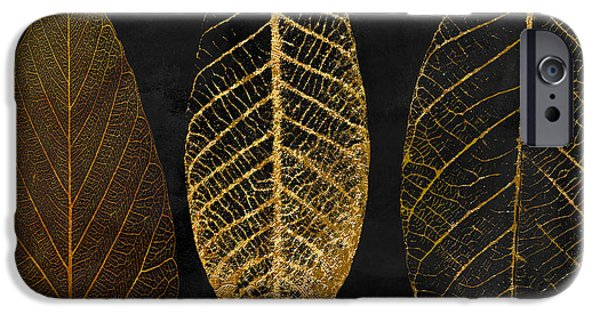 Pattern iPhone 6 Case - Fallen Gold II Autumn Leaves by Mindy Sommers