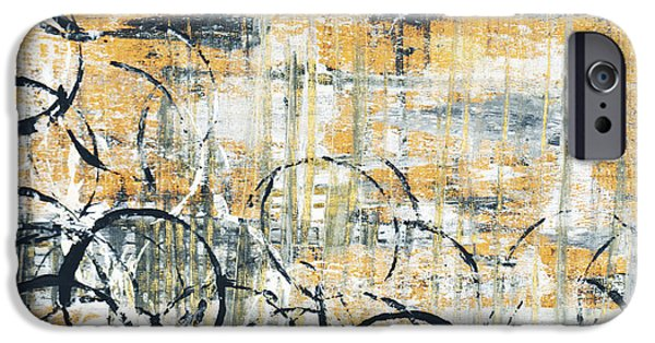 Yellow Abstracts iPhone Cases - Falls Design 3 iPhone Case by Megan Duncanson