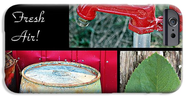 Rain Barrel iPhone Cases - Farm Fresh Air- Fine Art iPhone Case by KayeCee Spain