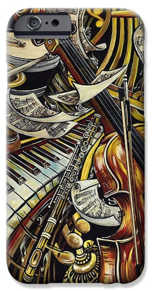 Innovative iPhone Cases - Feel the Music iPhone Case by Dana Diaz de Leon