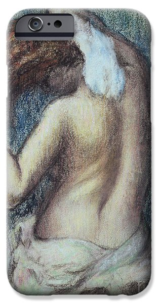 Pastel iPhone Cases - Femme a sa Toilette iPhone Case by Edgar Degas