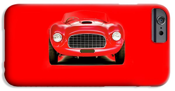 Vintage Car iPhone Cases - Ferrari 166 iPhone Case by Mark Rogan