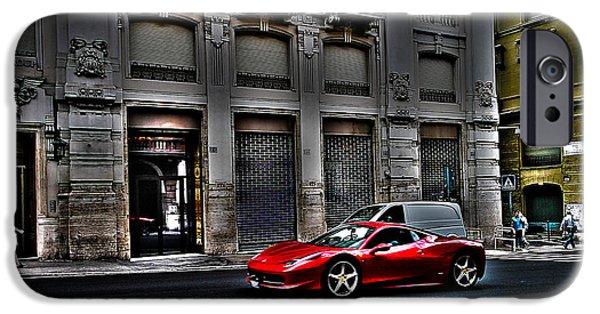 Ferrari In Rome IPhone 6 Case by Effezetaphoto Fz