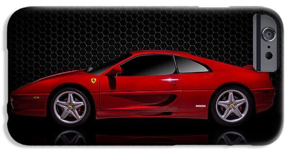 Luxury iPhone Cases - Ferrari Red - 355  F1 Berlinetto iPhone Case by Douglas Pittman