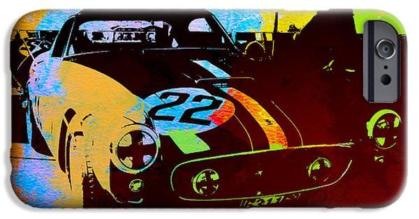 Events iPhone Cases - Ferrari Watercolor iPhone Case by Naxart Studio